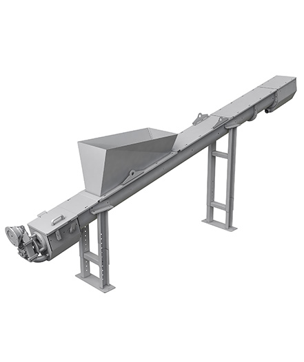 Shaftless screw conveyor and compactor