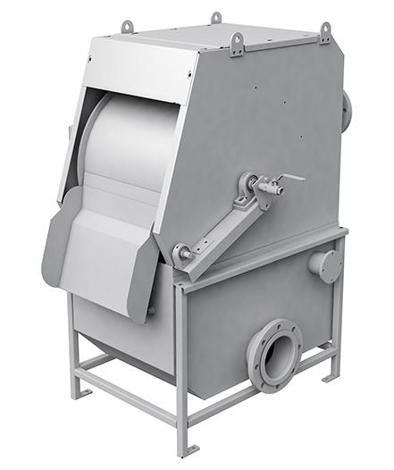 External drum strainer